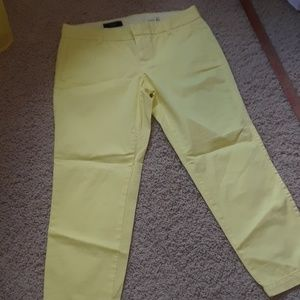 J.Crew bright yellow pants